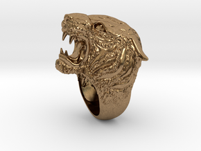 Tiger Ring in Raw Brass