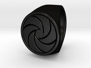 Paul F. -  Signet Ring in Matte Black Steel: 6 / 51.5