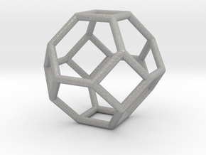 0268 Truncated Octahedron E (a=1сm) #001 in Aluminum
