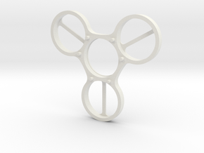 Undercover (Top Half) - Fidget Spinner in White Natural Versatile Plastic