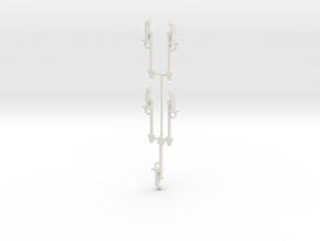 15mm Space Zombie Glaive x5 in White Natural Versatile Plastic