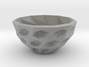 Twisted bowl in Metallic Plastic