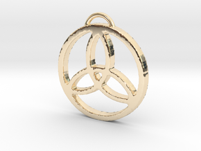 Elegant Triquetra by ~M. in 14K Yellow Gold