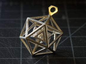 Geometric Tower Pendant in Polished Silver