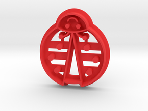 Ladybug Cookie Cutter in Red Processed Versatile Plastic