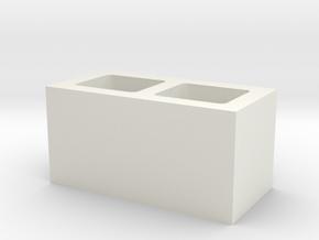 Concrete Cinder Blocl Brick 1.10 40X20mm in White Natural Versatile Plastic
