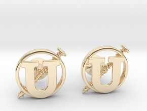 Screw U Cufflinks in 14k Gold Plated Brass