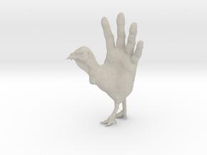 Hand Turkey in Natural Sandstone: Large