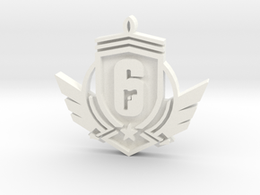 Rainbow Six SIege - Diamond in White Strong & Flexible Polished
