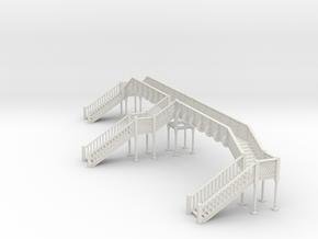 Footbridge Type 4 - OO Scale in White Natural Versatile Plastic