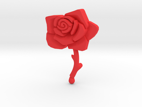 Bleeding Rose Shield - Piece 2 of 2 in Red Processed Versatile Plastic