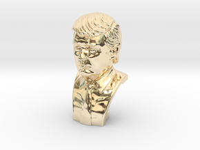 Donald Trump. Portrait bust in 14K Yellow Gold