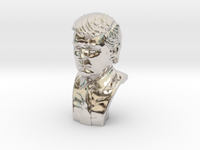 Donald Trump. Portrait bust in Platinum