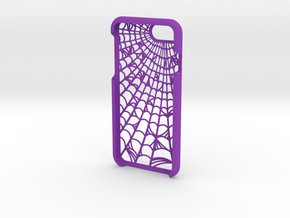 Webbed: Case for iphone 7 in Purple Strong & Flexible Polished