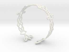 Celtic knots Cuff 3  in White Natural Versatile Plastic: Extra Small