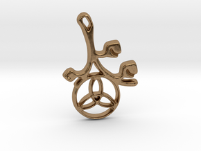 Earthly Spring Triquetra by ~M. in Natural Brass