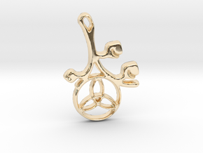 Earthly Spring Triquetra by ~M. in 14K Yellow Gold