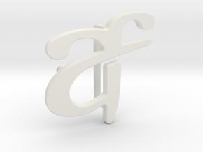 Custom Logo Belt Buckle in White Natural Versatile Plastic