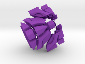 4 Corners Cube Puzzle in Purple Strong & Flexible Polished
