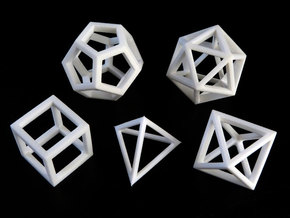 Regular polyhedra in White Natural Versatile Plastic