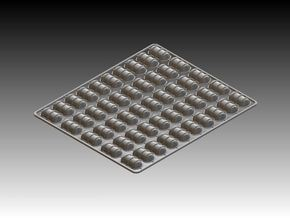 50  x Life Raft 1/96 in White Strong & Flexible Polished