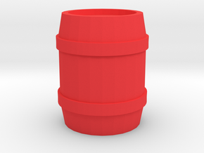 Barrel Thimble in Red Processed Versatile Plastic