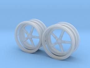 Weld 5 spoke rear 1/18 in Smooth Fine Detail Plastic