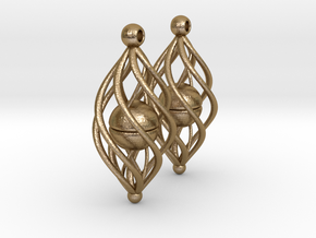 Earring Model A1 Pair in Polished Gold Steel