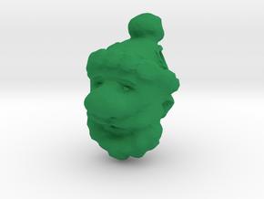 Santa Clause Ornament in Green Processed Versatile Plastic