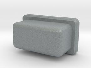 Rectangular firebutton for TalyMod  in Polished Metallic Plastic