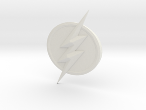 The Flash Emblem in White Natural Versatile Plastic: Medium
