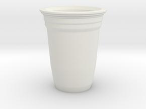 Mini Solo Cup in White Natural Versatile Plastic