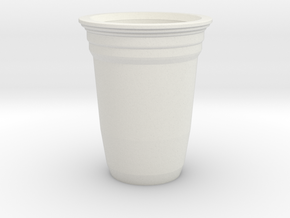 Mini Solo Cup in White Natural Versatile Plastic