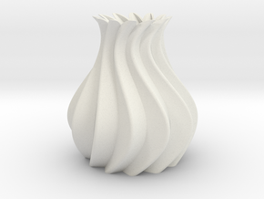 Vase Model A4 in White Natural Versatile Plastic