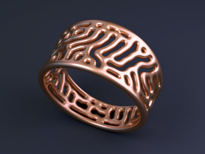 Reaction Diffusion Ring  in 14k Rose Gold Plated