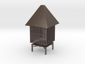 Smoke House in Polished Bronzed Silver Steel