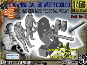 1-56 USN Cal 50 WC Mount M39 & Crew Set in Smooth Fine Detail Plastic
