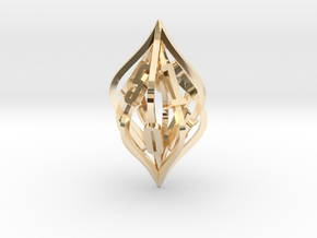 'Kaladesh' LARGE D10 Spindown Life Counter in 14k Gold Plated Brass