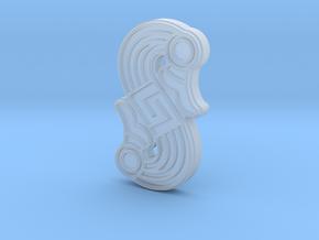 Alemannic S-Fibula Frankfurt, casting, smooth in Smoothest Fine Detail Plastic