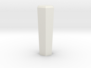 Hex Shifter Standard in White Natural Versatile Plastic