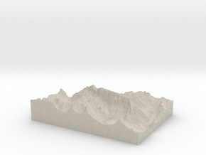 Model of La Marmolada (Punta Penia) in Sandstone