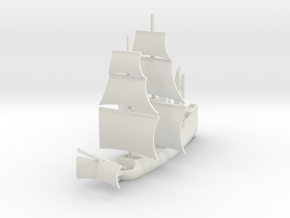 1/1000 English Galleon in White Strong & Flexible