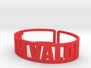 Team Valor in Red Processed Versatile Plastic
