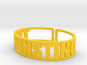 Team Instinct in Yellow Processed Versatile Plastic