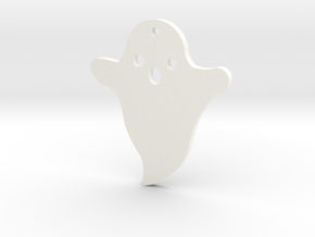 Lucy's Ghost Earrings in White Processed Versatile Plastic