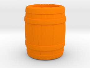 Barrel Mug in Orange Strong & Flexible Polished