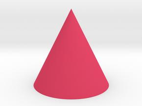 Cone Shape in Pink Processed Versatile Plastic