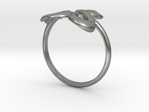 Slytherin Snake ring in Raw Silver: 4 / 46.5