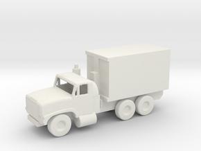 1/200 Scale Oshkosh MTVR 9 Ton Container Truck in White Natural Versatile Plastic