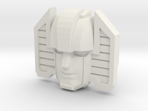 Sunstreaker G1/IDW Face (Titans Return) in White Natural Versatile Plastic